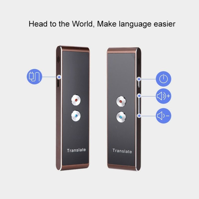 Portable Smart Voice Speech Translator Two-Way Real Time Multi-Language Translation For Learning Travelling Business Meeting