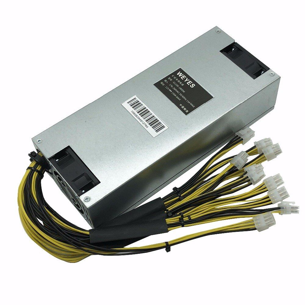BTC LTC miner power supply 180-240V 12V 150A MAX OUTPUT 1800W suitable for ANTMINER S7 S9 L3+ D3 A3 Baikal X10 Giant-B