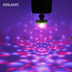Portátil USB Disco Luz Do Estágio Do Partido Home Luzes LED Karaoke Decorações Coloridas KTV DJ Disco Light Lâmpada Com Adaptador Android