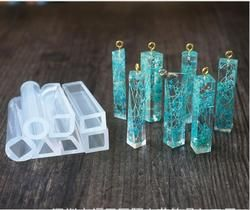 Cairan Transparan Silikon Mold Diy Resin Perhiasan Liontin Kalung Liontin Lanugo Cetakan Resin Cetakan untuk Perhiasan Gratis Pengiriman