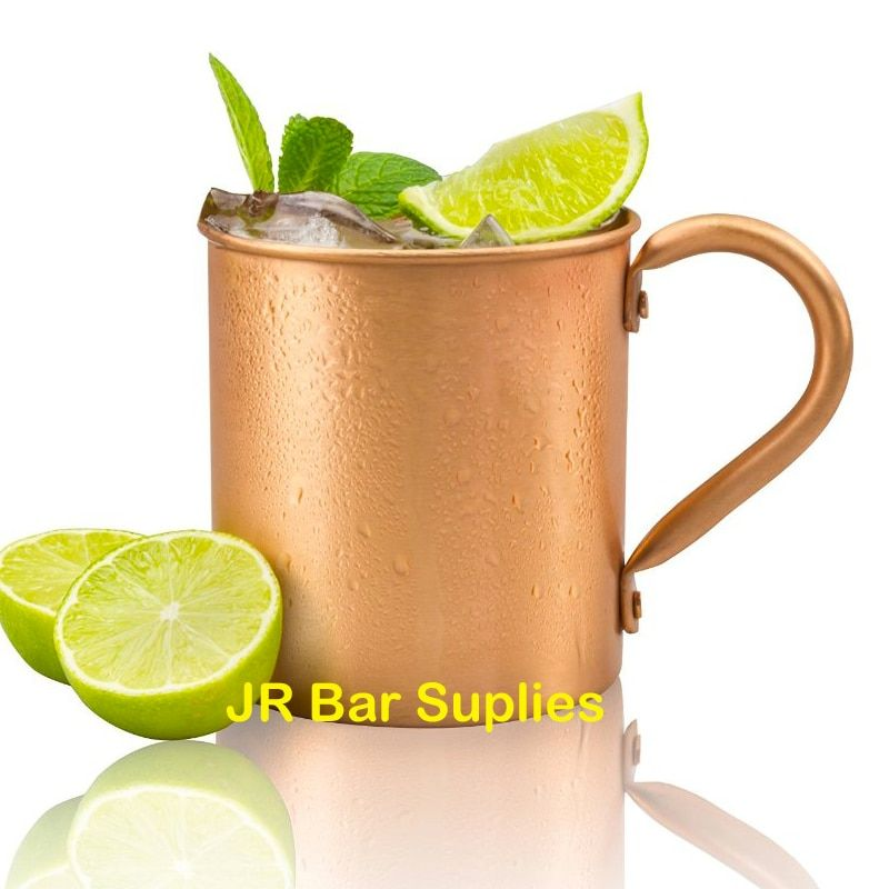 Free Shipping 450ml 16.0oz 100% Copper Moscow Mule Mug Durable Coppery Beer Mugs Coffee Mug Milk Cup Pure Copper Cup Drinkware