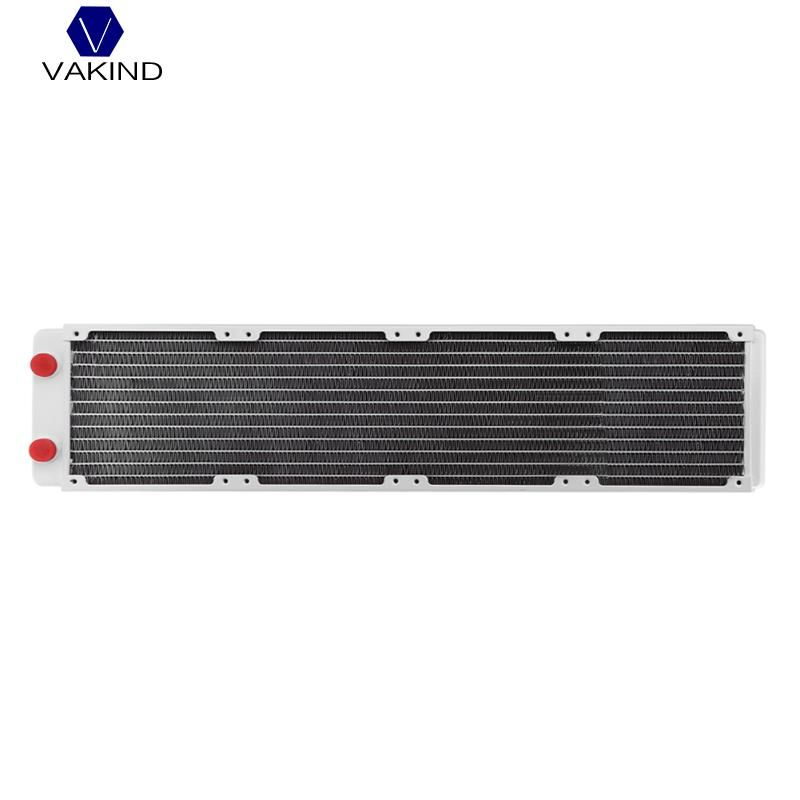 VAKIND White 480mm Computer Water Discharge Liquid Heat Radiator With G1/4 Thread Mouth For PC Water Cooling System