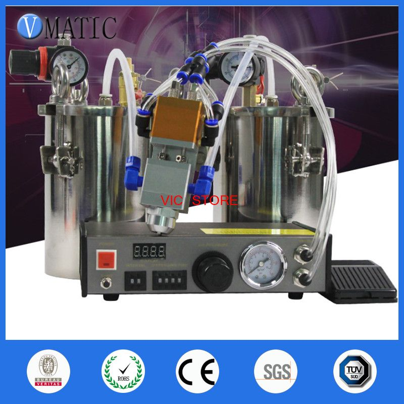 Free Shipping Automatic Dispenser Set + Stainless Steel Air Pressure Tank + Double Action Two Cylinder Liquid Dispensing Valve