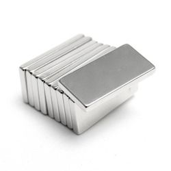 Hakkin 5Pcs Super Strong Neodymium Magnet Block Cuboid Rare Earth Magnets N35 20 x 10 x 2mm