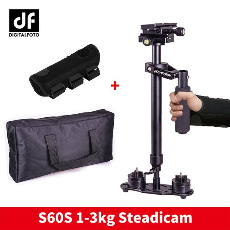 DIGITALFOTO S60S vidéo DSLR caméra portable stabilisateur steadicam S60 4 poids steadycam avec main de protection de Micro