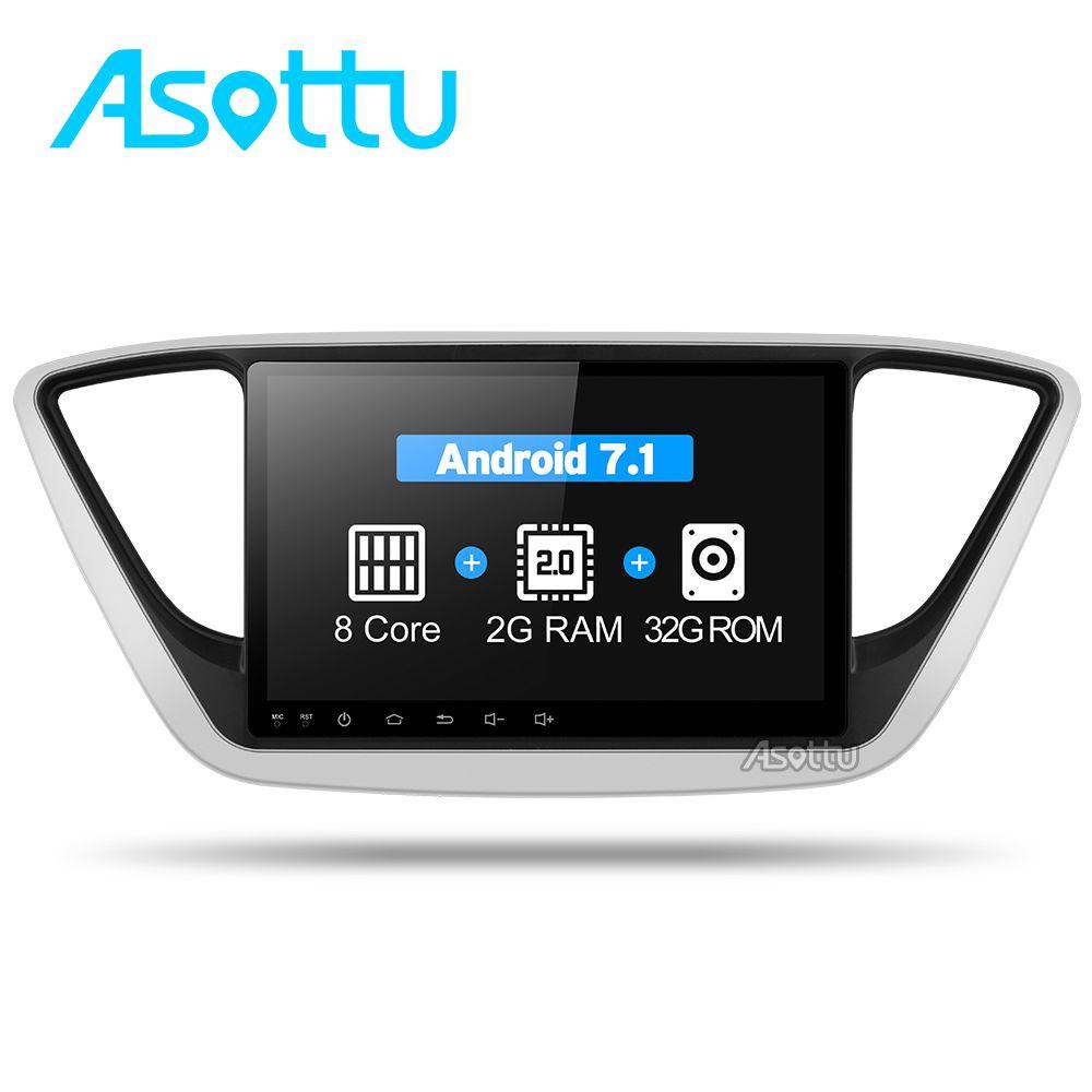 Asottu C17YN9060 Auto DVD GPS-Spieler Für Hyundai Verna 2017 auto PC Steuergerät Auto Radio Video Player Navigation 2 din gps dvd