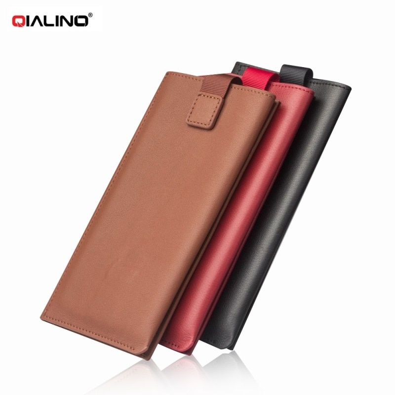 QIALINO for Apple i6s i6 i7 Purse Bag Genuine Leather Wallet Pouch Phone Case for iPhone 7 iPhone6s Plus Smartphone Cover Shell