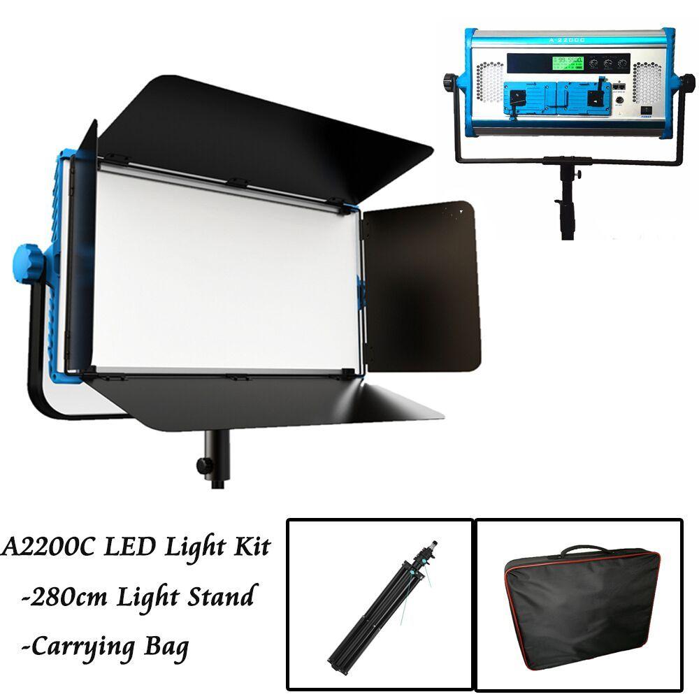 APP & Fernbedienung RGB Weiche Led-lampe Fotografie Kontinuierliche licht Set Foto Studio Video Film Licht + stativ + handtasche