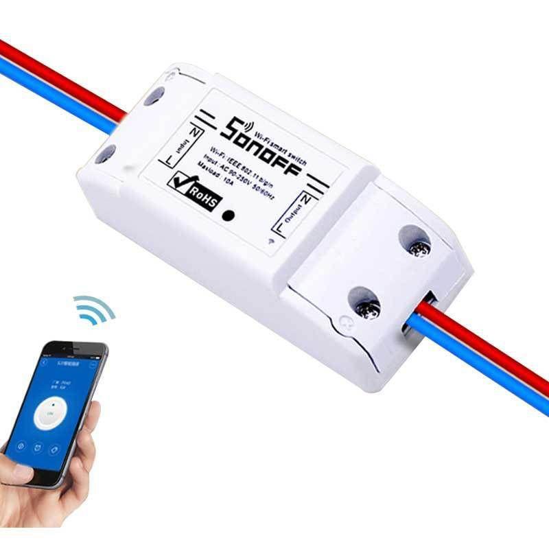 ITEAD Sonoff De Base Wifi Sans Fil Smart Switch BRICOLAGE Intelligent Minuterie Mur Wifi Commutateur 10A 90 v-250 v Soutien IOS Android Téléphone APP