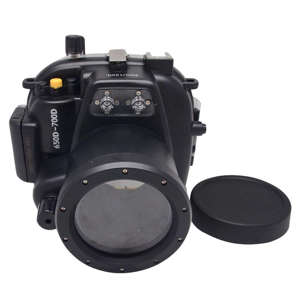 Mcoplus 700D/650D 40 mt 135ft Unterwasser Wasserdichte kamera Tauchen Gehäuse Tasche Fall für Canon 700D 650D 18- 55mm Objektiv