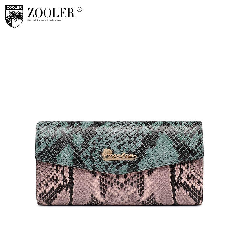 2018 neue ZOOLER muster echtem leder tasche brieftaschen patchwork camouflage geldbörse berühmte marke OL dame münze lange geldbörsen A101