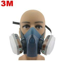 3M 7502 Respirator Half Facepiece Reusable Respirator Mask Ammonia Methylamine Organic Vapor Cartridges Filters