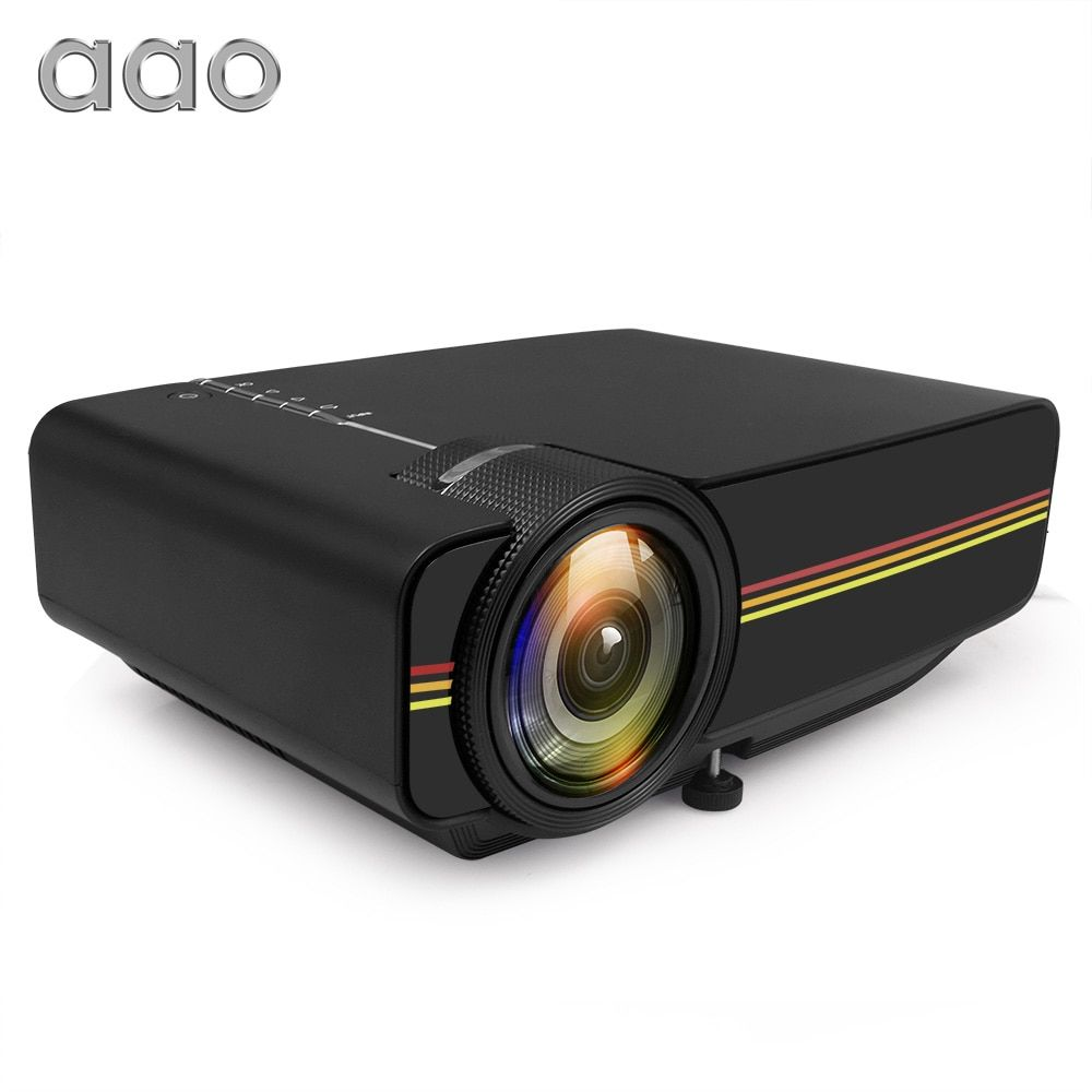 AAO YG300 Upgrade YG400 Mini Projektor 1200 Lumen Für Video Spiel TV Beamer projektor Heimkino Film AC3 HDMI VGA AV SD USB