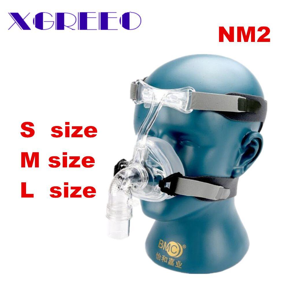 BMC CPAP Mask NM2 Nasal Mask With Adjustable Strap Headgear Breathing Maskesi For Sleep Apnea Nasal Anti Snoring Treatment