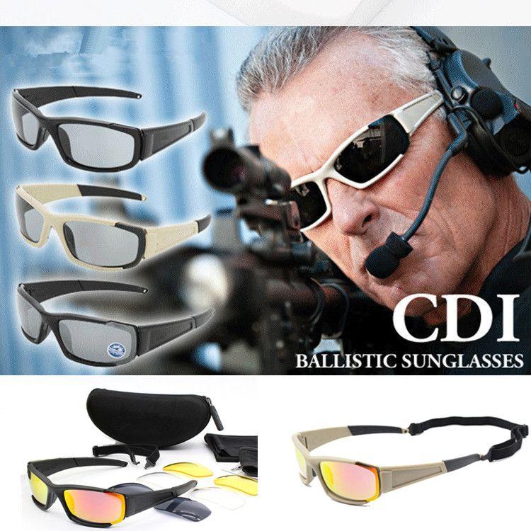 brand Original Polarized Sunglasses Men UV400 4 Lenses Tactical Glasses Army Goggles Ballistic Test Bullet-Proof Eyewear