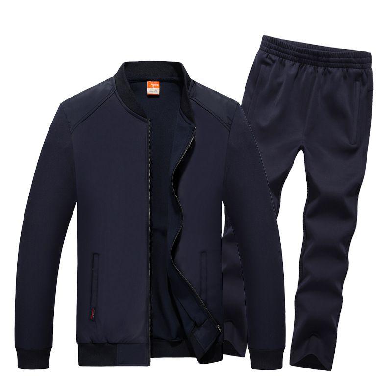 AmberHeard 2017 Mode Herbst Winter Männer Sport Anzug Jacke + Hose Sweatsuit 2 Stück Set Sportbekleidung Herren Kleidung Trainingsanzug Set