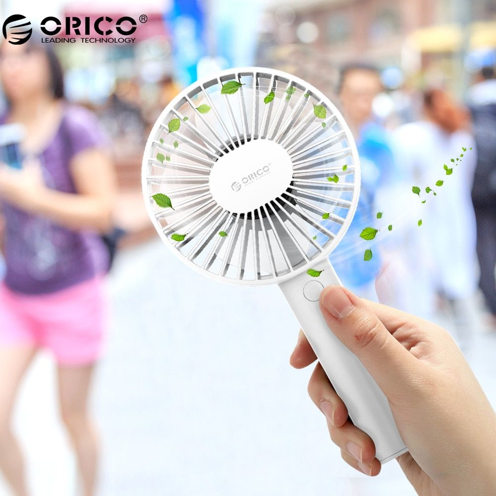 ORICO Mini USB Fans Micro USB Cooling Fan 3 Speed Handled and Desktop Work Hand Fan for Office Home Outdoor Travel Portable