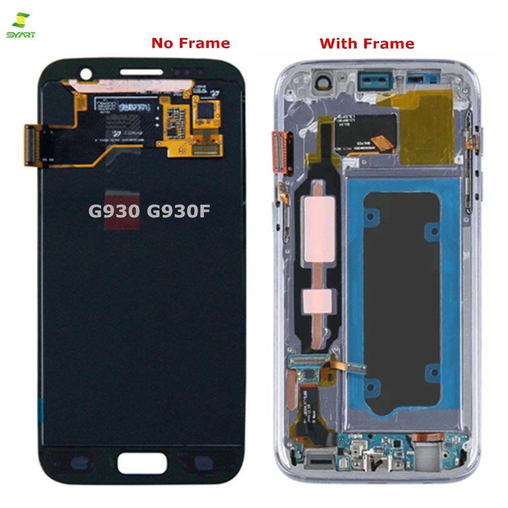 S7 G930 G930F Amoled Für Samsung Galaxy S7 Lcd Display G930 G930F G930A G930V G930P Lcd Display Bildschirm Touch Digitizer montage