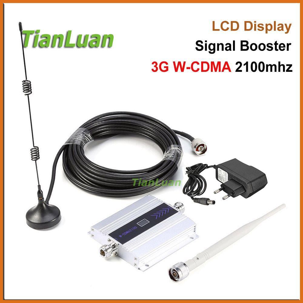 TianLuan 3G W-CDMA 2100 MHz Téléphone Mobile Signal Booster 3G 2100 MHz UMTS Répéteur de Signal Cellulaire Téléphone WCDMA amplificateur avec Antenne