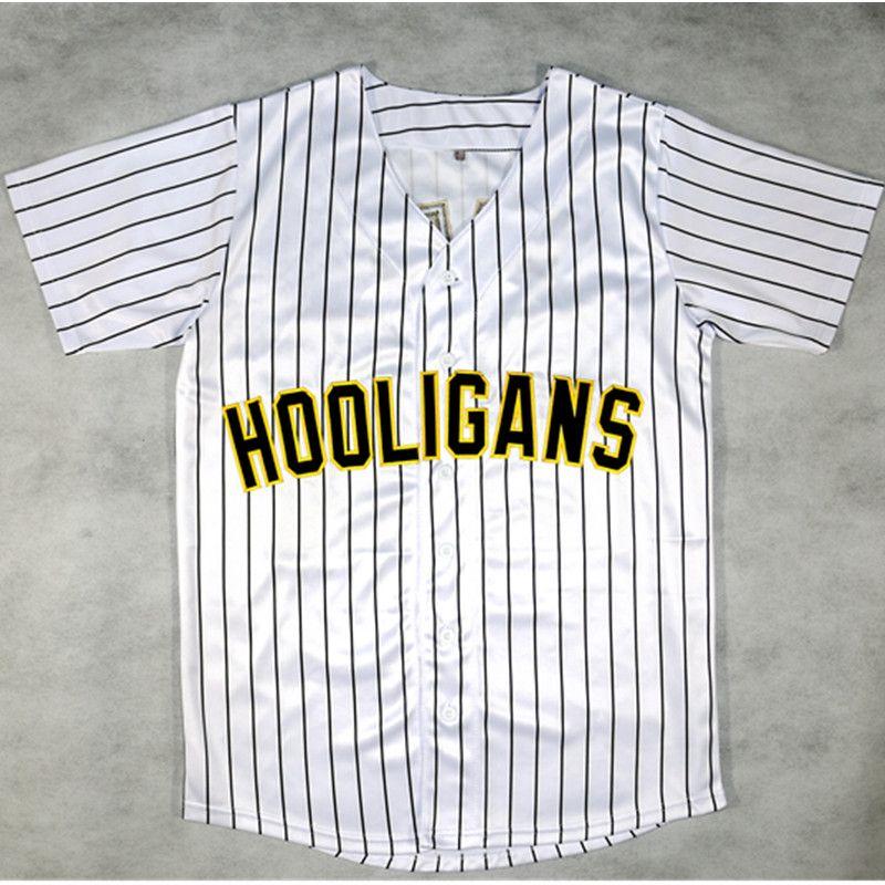 Mens Bruno Mars chemise #24 24 K Hooligans jersey Rayé BET Awards HOMME Piqué Bouton Vers Le Bas T-Shirt De Mode camisetas hombre
