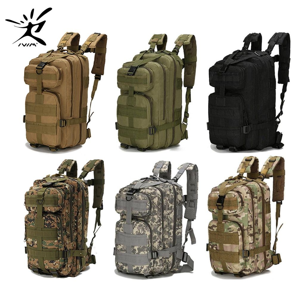 1000D Nylon Tactical Backpack Military Backpack Waterproof Army Rucksack Outdoor <font><b>Sports</b></font> Camping Hiking Fishing Hunting 28L Bag