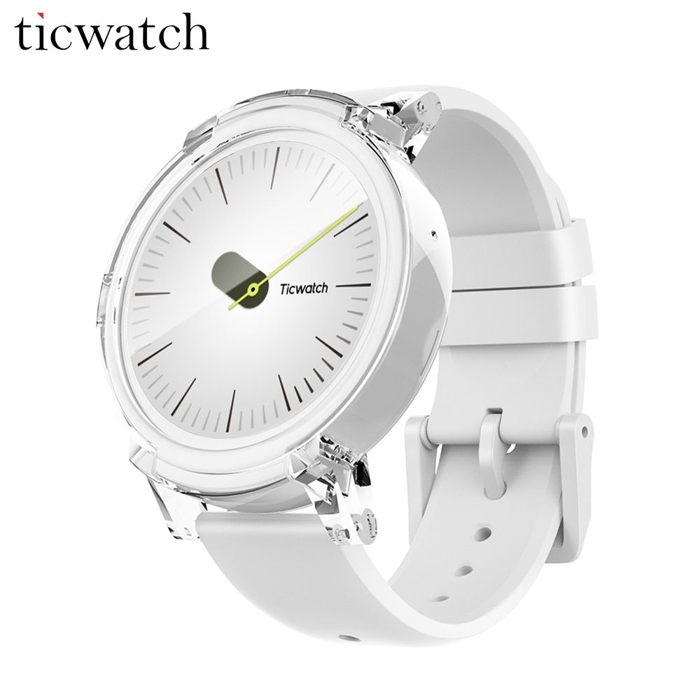 Original Ticwatch E Ice Smart Watch Android Wear 2.0 MT2601 Dual Core Bluetooth 4.1 WIFI GPS Smartwatch Phone Heart Rate Monitor