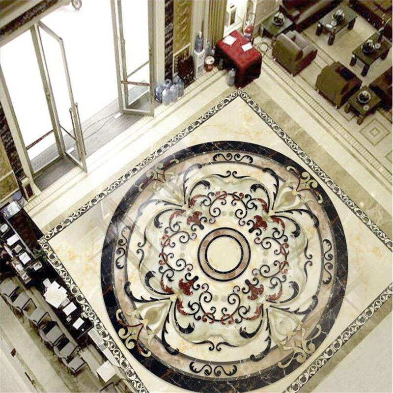 beibehang marble tiles tile parquet wall paper painting bathroom mural self-adhesive PVC photo wallpaper wall-paper flooring