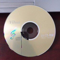 Wholesale 10 discs Grade A+ Yellow Blank Printed 12x 700 MB CD-RW Disc