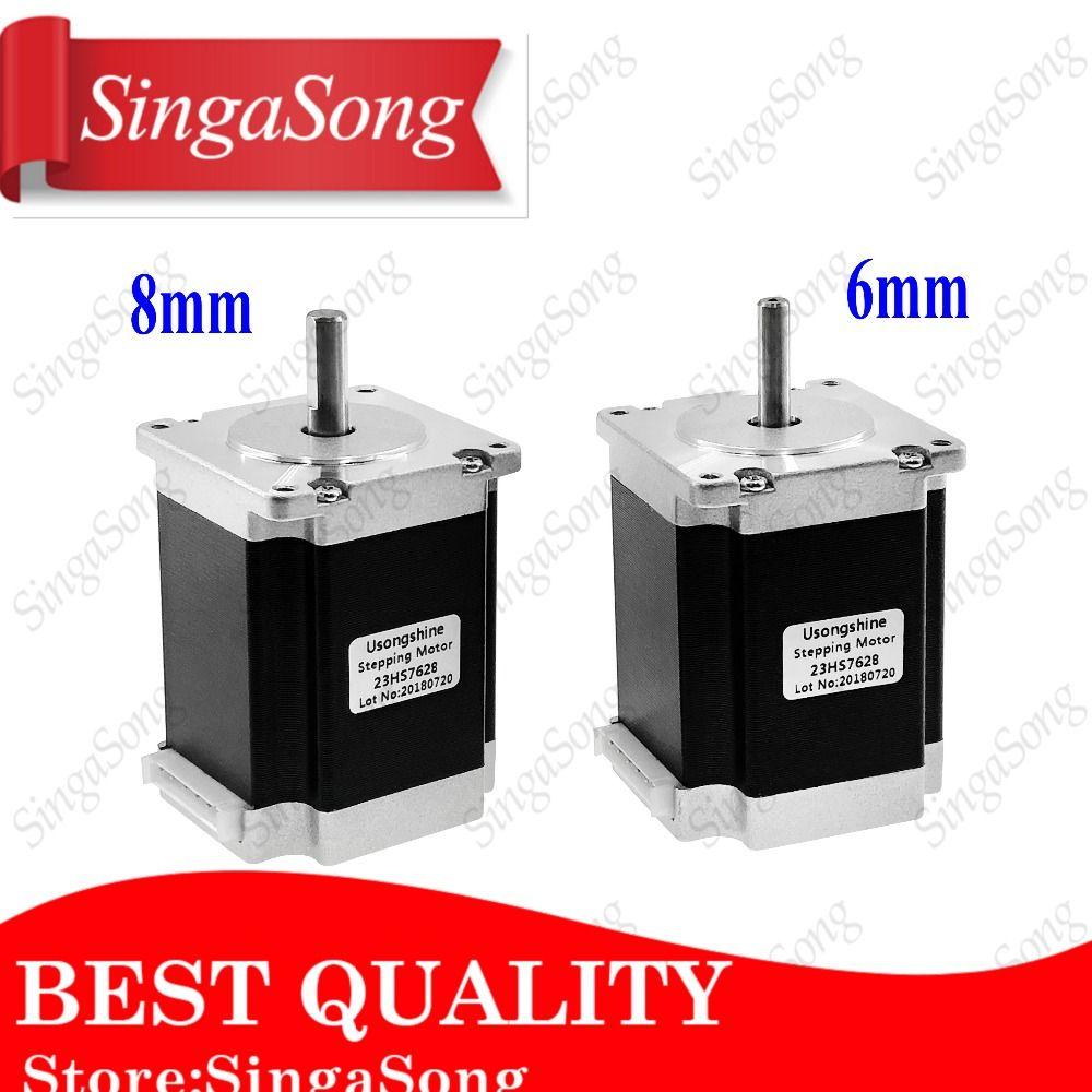 Free shipping 1Pcs 2 phase, 4-Leads 20Kgcm 76mm CNC Nema 23 Stepper Motor,3D Printer 23HS7628 23HS8430 1.8deg