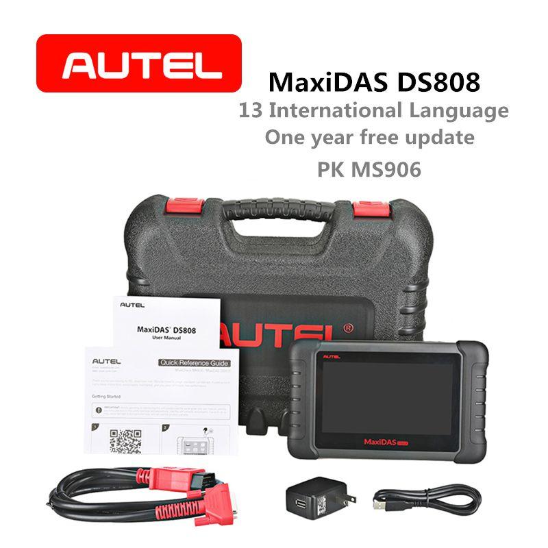 Autel MaxiDAS DS808 Auto Diagnose Werkzeug OBD2 Scanner Schlüssel Codierung Code Reader Erweiterte version von DS708 Gleiche Funktion wie MS906