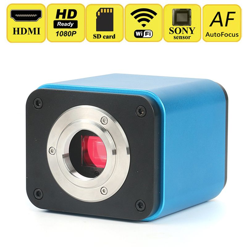 AutoFocus 1080p HD HDMI WIFI Industry Video Microscope Camera SONY Sensor IMX185 SD Card Biological Microscope Stereo Microscope