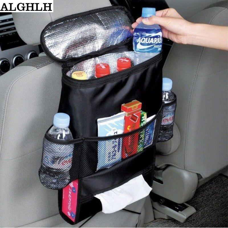 ALGHLH isolé nourriture déjeuner sac de rangement voyage voiture sac d'isolation multifonctionnel grande capacité voiture siège organisateur sac de refroidissement