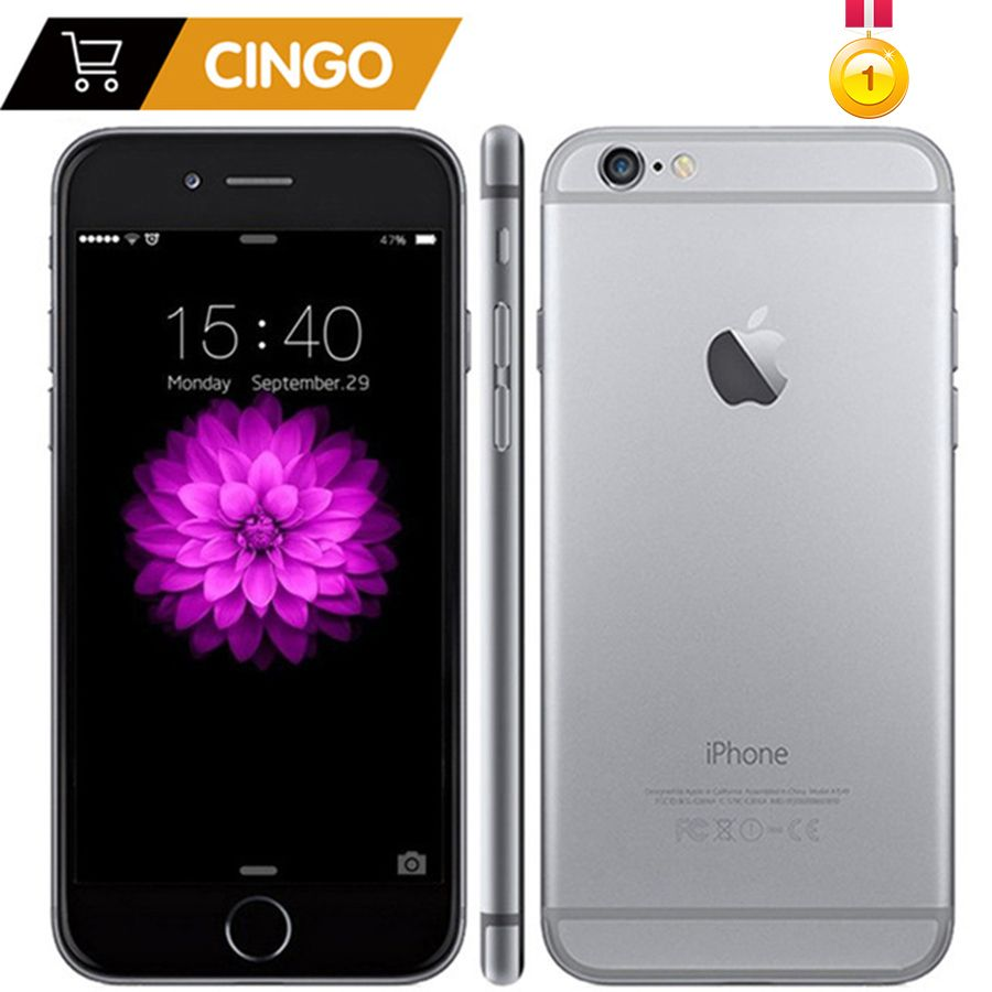 Entsperrt Original Apple iPhone 6 Plus 16/64/128 gb ROM 1 gb RAM IOS Dual Core 8MP /Pixel 4g LTE Verwendet Handy