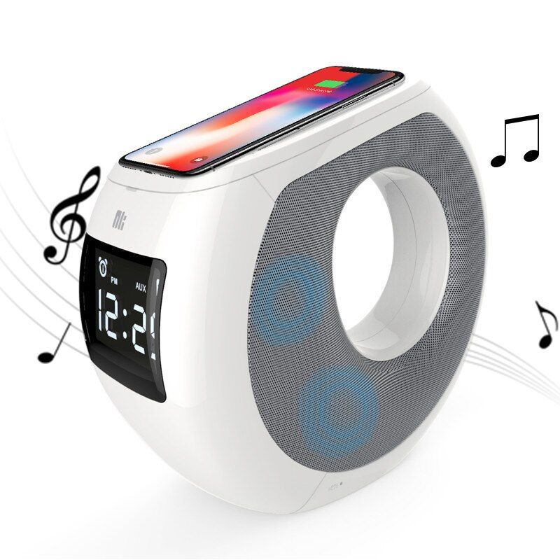 Home Bluetooth speaker qi wireless charger Pad Music surround speaker NILLKIN Cozy MC1 for iPhone X/8/8+ for samsung for xiaomi