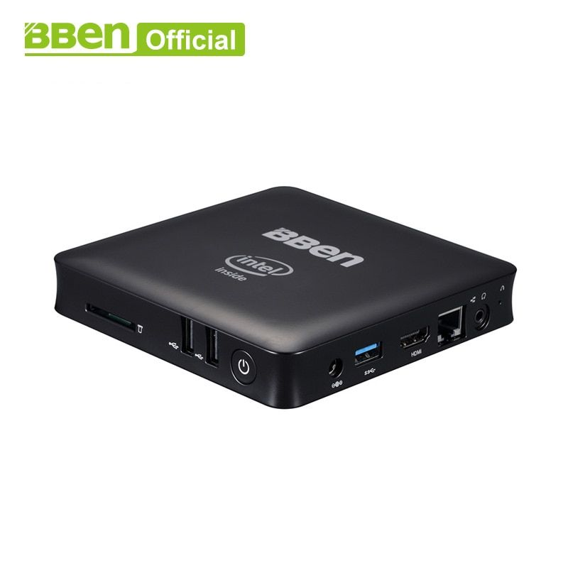 Bben Mini Computer Mn11 Z8350 Quad Core Mini PC Windows10 Lan TV box USB3.0+2.0 WIFI desktop computer box 2GB/32GB