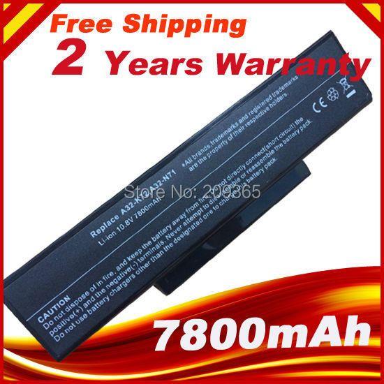 7800mAh battery for Asus A32-K72 A32-N71 K72DR K72 K72D K72F K72JR K73 K73SV K73S K73E N73SV X77X77VN k72-100 X77VN 9cells