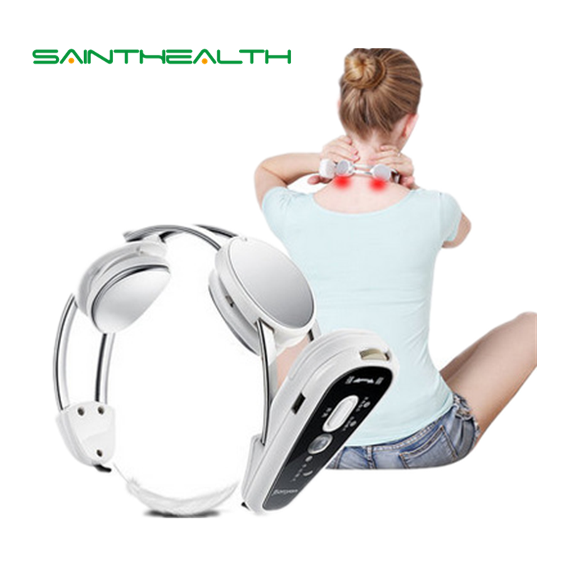 Wireless body <font><b>Health</b></font> care Infrared Heating Neck Massager electric Relax cervical treatment acupuncture stimulator therapy device