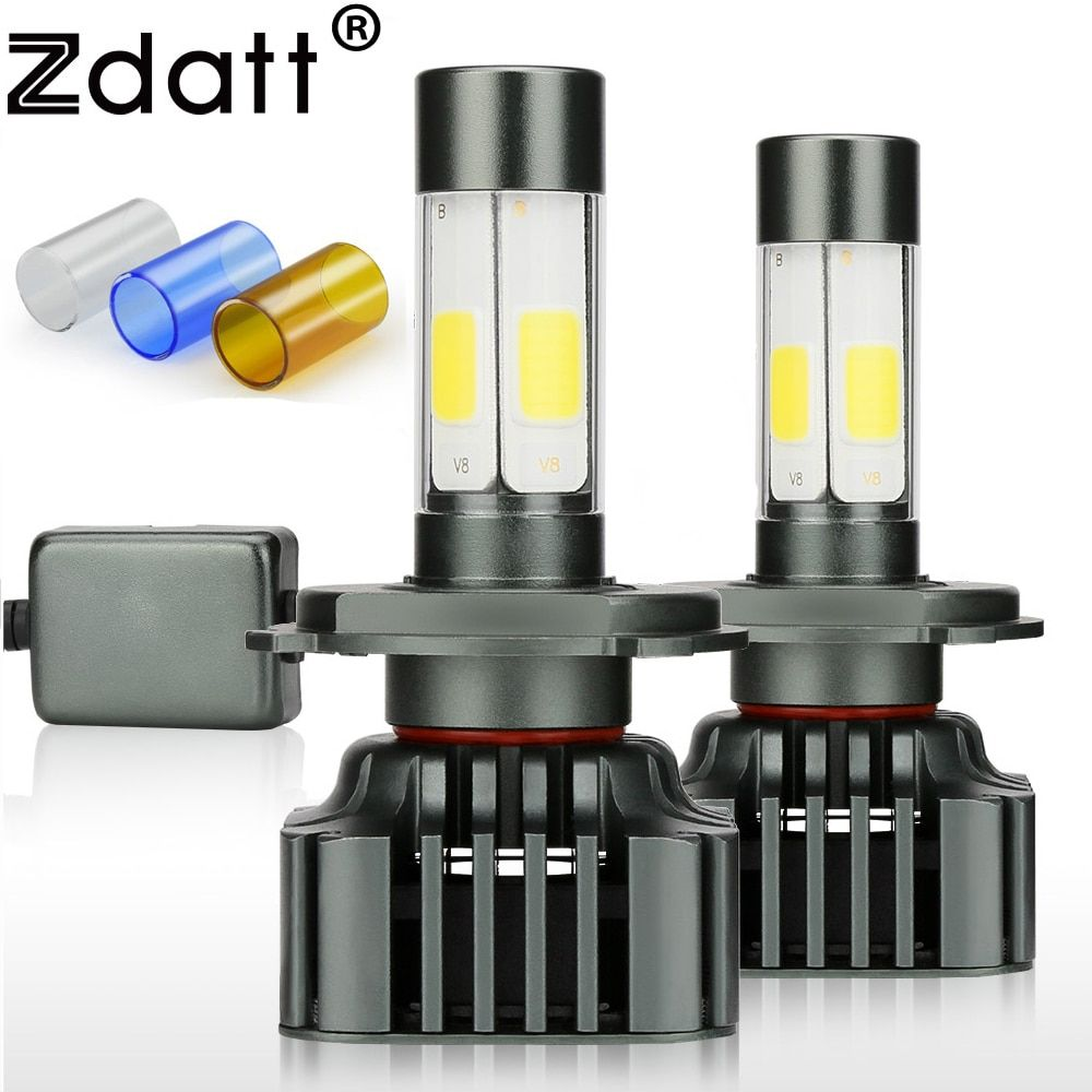 Zdatt H7 Led Bulb Canbus H4 Led Headlights COB H11 <font><b>9005</b></font> 100W 12000LM/Set H8 H9 HB3 12V 24V Car Fog Light Auto 3000K 6000K 8000K