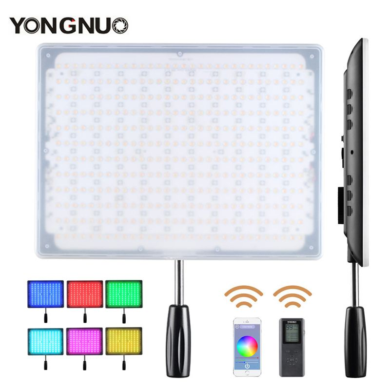 YONGNUO YN600 RGB Led Video Light 3200K-5500K Ultra Thin Bluetooth Control by Phone APP for Canon Nikon Sony Panasonic