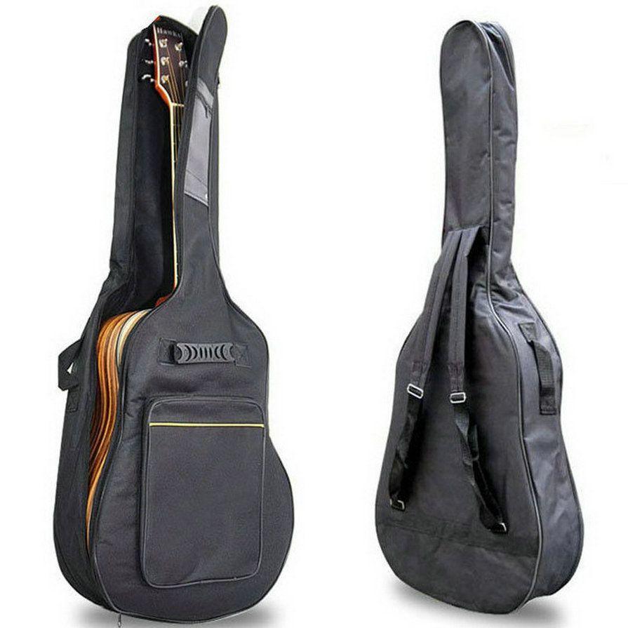 41 Acoustic Guitar Double Straps Padded Guitar Soft <font><b>Case</b></font> Gig Bag Backpack High Quality