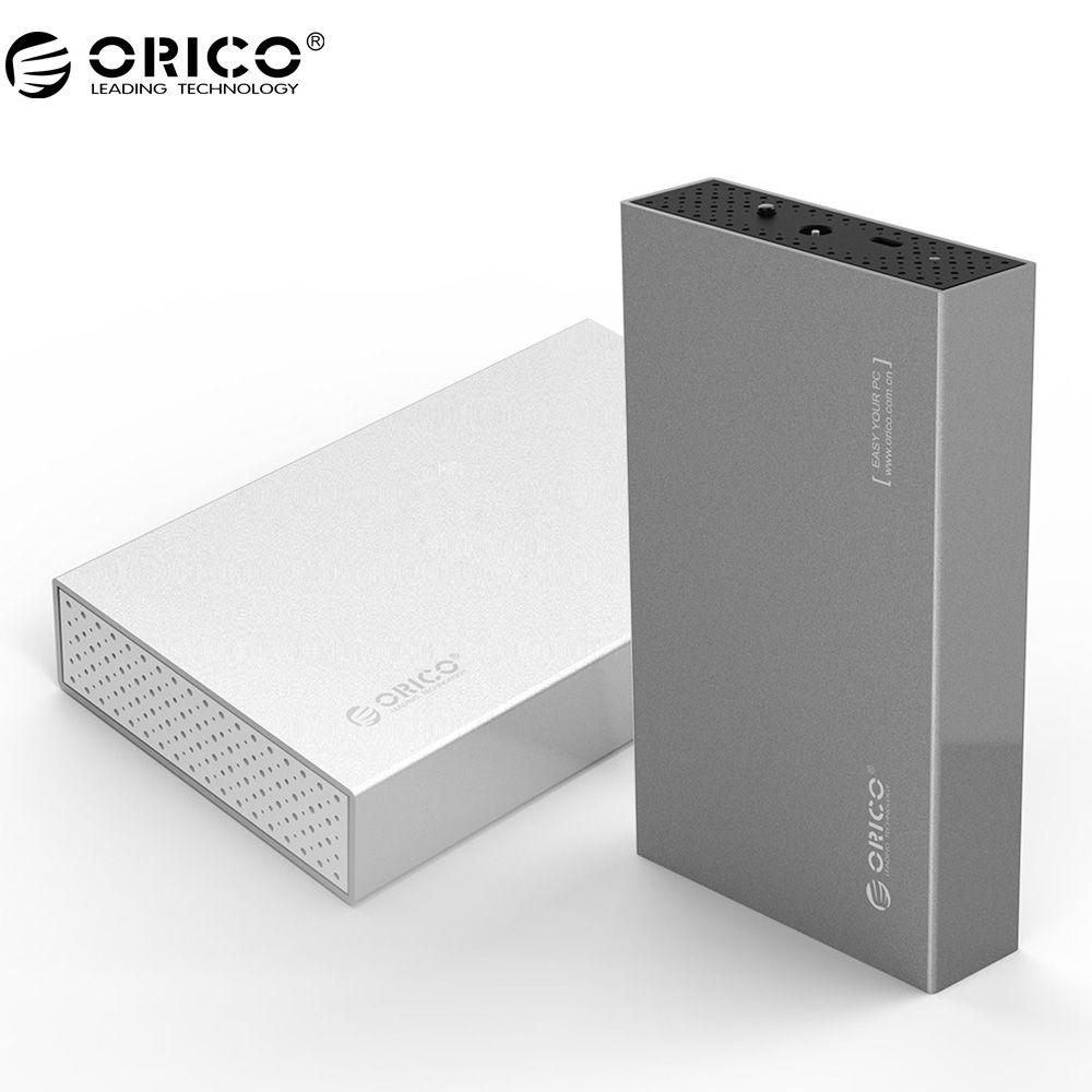 ORICO 3,5 zoll Typ-C Aluminium Festplatte Gehäuse mit USB3.1 Gen1 zu SATA3.0 Unterstützung 8 tb kapazität- silber (3518C3)