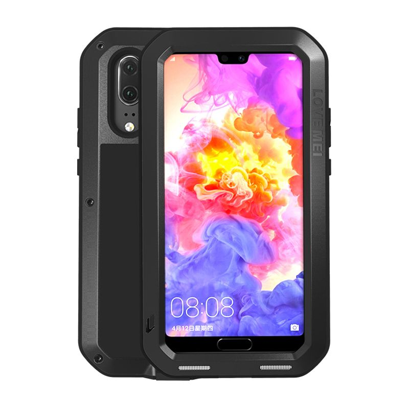 Aluminum Metal Case For Huawei P20 Pro & Gorilla Glass Full Body Protective Heavy Duty Shockproof sFor Huawei P20pro Case P 20