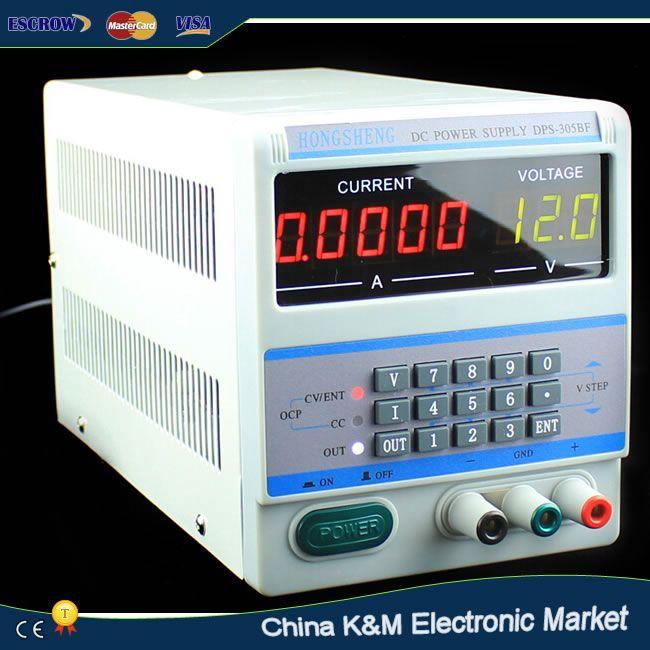 220 V/110 V 5 Ps Affichage Numérique DPS-305BF de Contrôle 30 V 5A DC Laboratoire alimentation Réglable pour ordinateur portable de Réparation avec des Bouchons