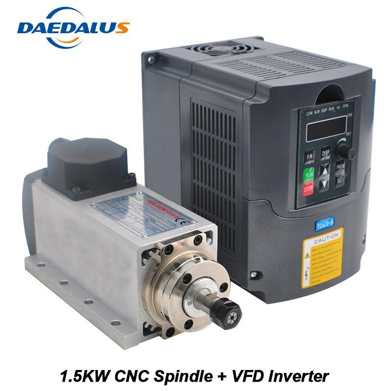 Spindle 1.5KW 110V 220V Motor CNC Spindle ER11 Router 1.5KW Converter Inverter VFD Inverter For Milling Engraving Tools