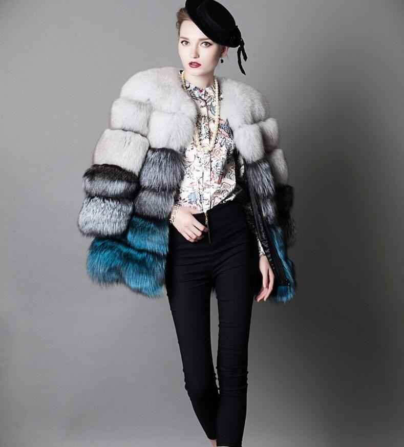 Europäischen Manchester Stil Modemarke Echt fuchs pelz mäntel Erstaunliche galerie Frauen