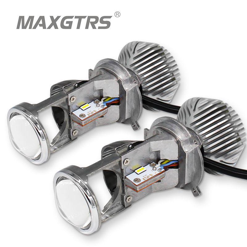 2x 70W H4 LHD LED Bulbs Lossless LED Conversion Kit Bulb Light Lamp Hi/Lo Beam Headlight with Mini Projector Lens 12V/24V