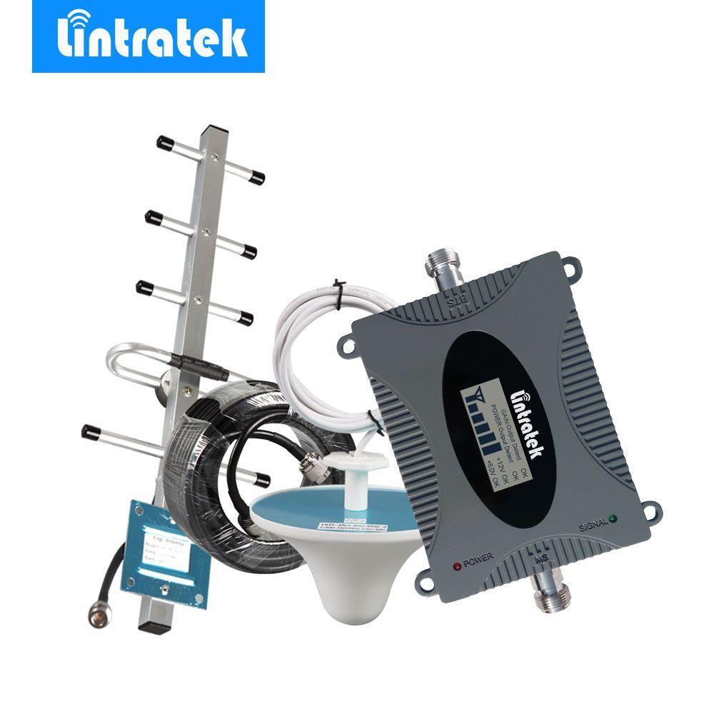 Lintratek 3G UMTS 850MHz (Band 5) Repetidor 850 mhz LCD Display Mini Mobile Phone Signal Repeater Celular GSM 850 MHz Antenna @