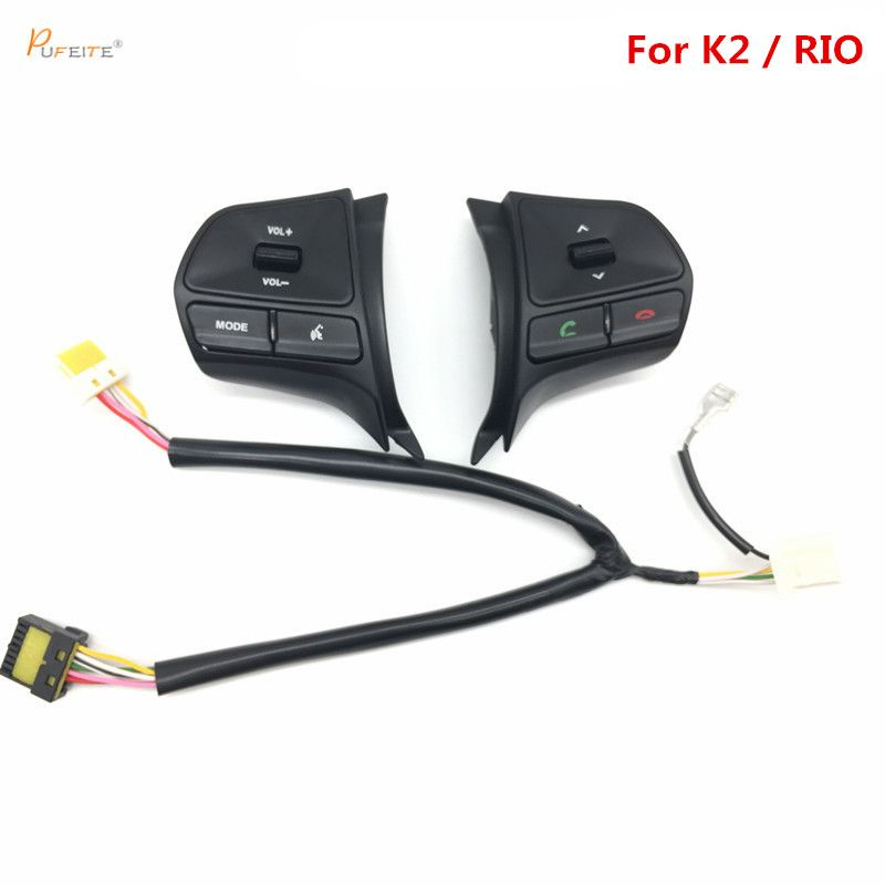 for KIA RIO 2012-2013 multifunctional steering wheel control button, Audio ,channel and bluetooth control button free shipping