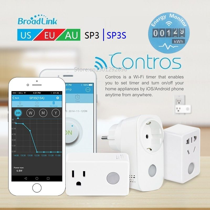 Smart home 2018 Broadlink SP3 SP3S timer wifi stecker outlet steckdose, APP Drahtlose Steuerung für ios iphone ipad Android, domotica