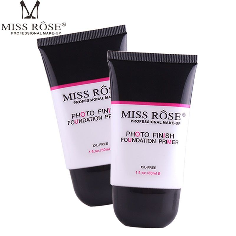 Mlle Rose Blanchissant et Hydratant Fondation Maquillage Base Amorce Couverture Pores Rides Fondation Base